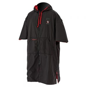 PROLIMIT ZIPPER PONCHO BLACK/RED for surfing