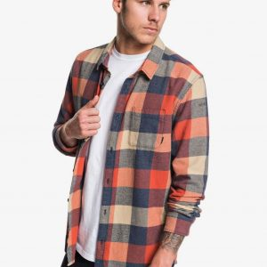 QUIKSILVER MOTHERFLY FLANNEL - LONG SLEEVE SHIRT FOR MEN