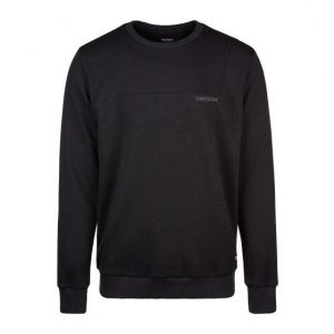 mystic clay black sweater front